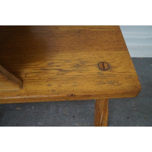 Brandt Ranch Oak Rustic Step End Tables - Pair - Image 5 of 10