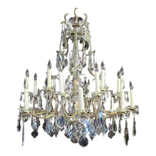 Grand 18th Century, Italian Beaded Piedmont Crystal Chandelier
