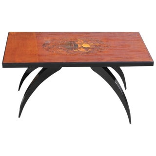 1930s French Art Deco Mother-Of-Pearl & Mahogany Coffee Table For Sale