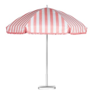 Monte Carlo Pink 9' Patio Umbrella, Light Pink & White For Sale