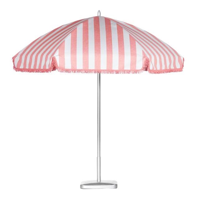 Monte Carlo Pink 9' Patio Umbrella, Light Pink & White For Sale