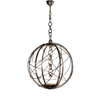 Oursin Gold Chandelier by Christine Rouviere For Sale