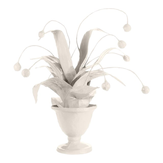 Stray Dog Designs for Chairish Crunchberry Faux Plant, White For Sale