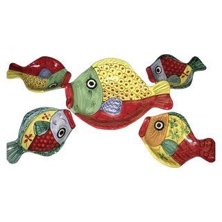 Italian Ceramics Fish Plates - Set of 5