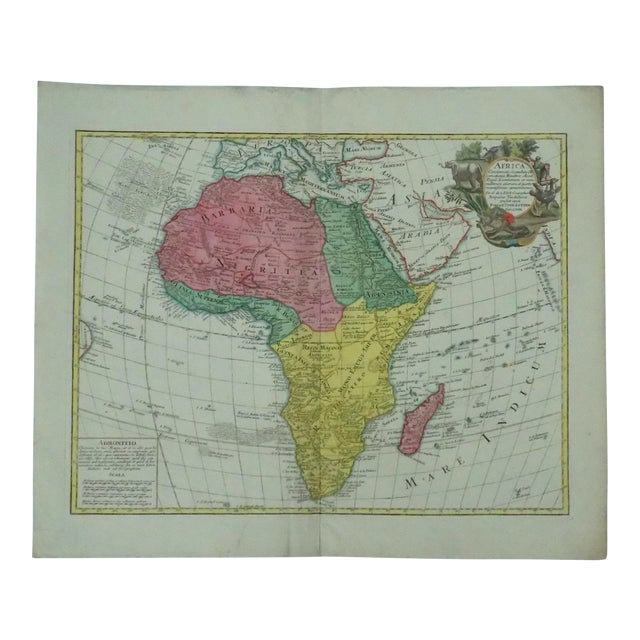 1778 Africa Map by Lotter For Sale