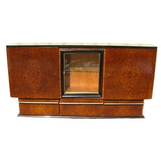 Massive Credenza 30's Art Deco Amboyna Wood Buffet