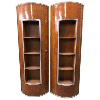 1920s Art Deco Chris Craft Boats Yacht Wood Shelving - A Pair For Sale
