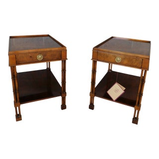 Baker Regency Style 1 Drawer End Tables - a Pair For Sale