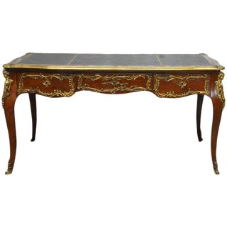 Louis XV Style Ormolu Mounted Figural Bureau Plat Desk For Sale