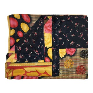 Rich Roses Rug and Relic Kantha Quilt