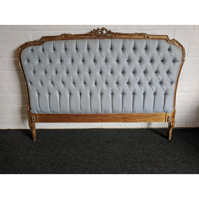 Brown French Style Handmade Bed For Sale - Image 8 of 10