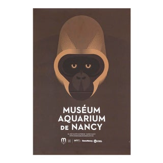 2015 Aquarium De Nancy Poster, Gorilla For Sale