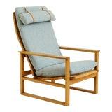 Image of 1950s Vintage Børge Mogensen Slædestolen Model Bm-2254 Chair For Sale