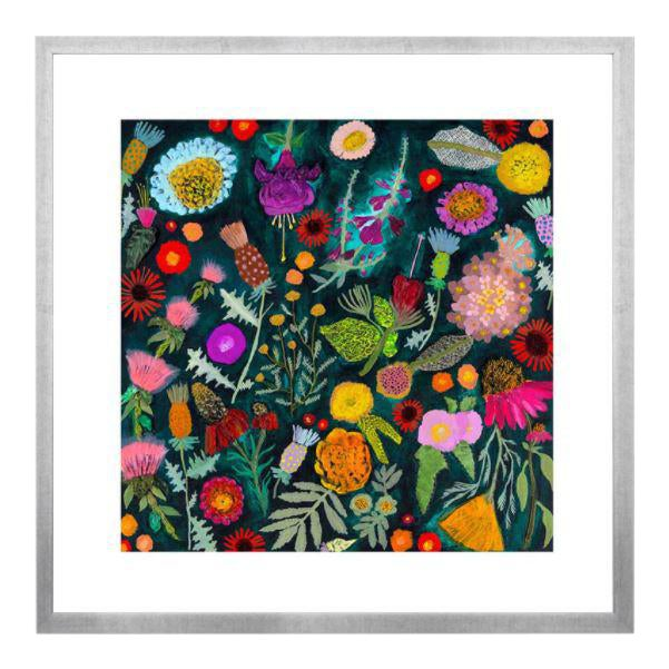 Wildflowers Garden Print by Eli Hilpin For Sale