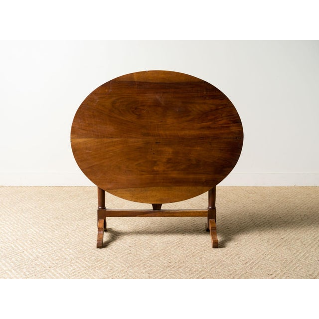 French Provincial Antique 1900s French Mahogany Wine Table For Sale - Image 3 of 6