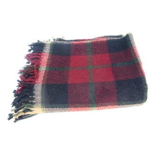 Cranberry Plaid Blanket For Sale
