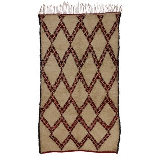"""20th Century Moroccan Beni Ourain Rug - 5'9"""" X 9'11"""" For Sale"""