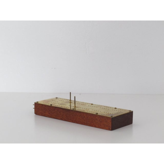 Wood & Brass Cribbage Board - Image 3 of 5