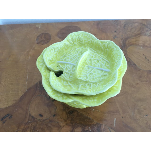 Vintage Secla Yellow Cabbage Bowls- Set of 3 For Sale - Image 11 of 12