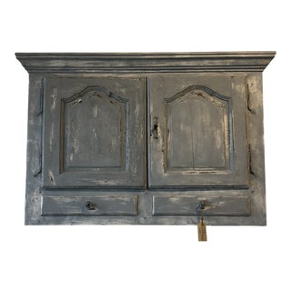French Hanging Cupboard With Doors For Sale