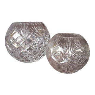 Patterned Glass Decorative Bowls - A Pair For Sale