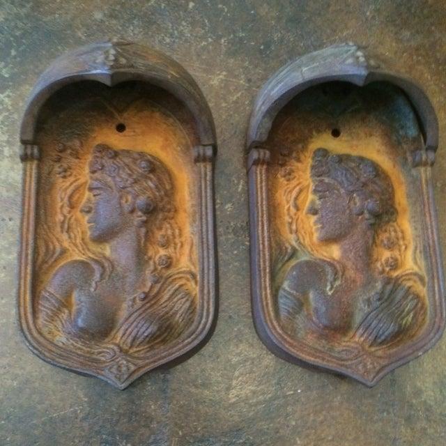 Art Nouveau Wall Plaques - Pair - Image 9 of 11
