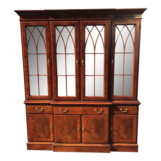 Ethan Allen Breakfront China Cabinet - Image 1 of 8