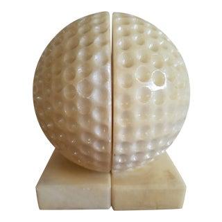 Golf Ball Bookends - A Pair