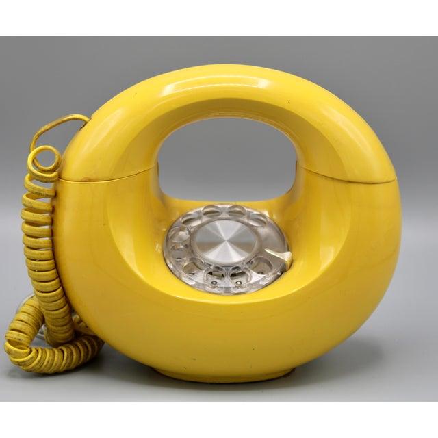 1970s Art Deco Lemon Yellow Rotary Telephone For Sale - Image 13 of 13