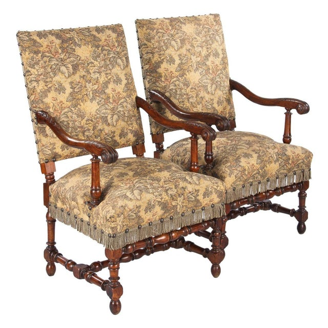 1860's French Louis XIII Style Armchairs - Pair - Image 1 of 10