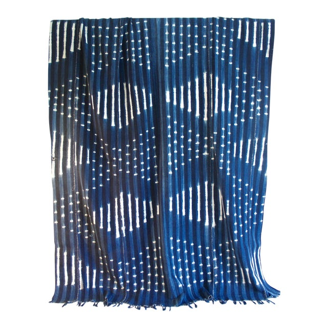 Vintage African Indigo Textile Throw - Image 1 of 5