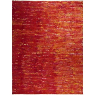 "Contemporary Vibrance Hand-Knotted Area Rug 7' 10"" x 10' 1"" For Sale"