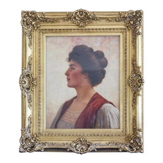 Late 19th Century Antique Painting by Walter Blackman For Sale