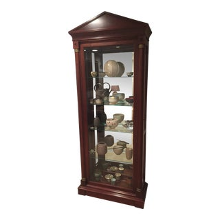 1990s Neoclassical Ethan Allen Curio Cabinet For Sale