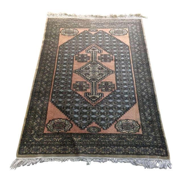 """Hand Knotted Persian Rug - 3'2'"""" X 5'4"""" - Image 1 of 6"""