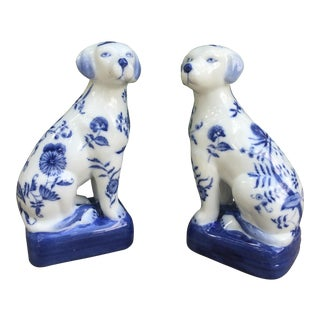 Vintage Wong Lee Crackle Glaze Dogs - A Pair For Sale
