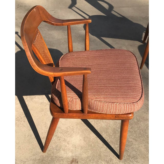 1960s Tomlinson of High Point Mid Century Dining Chairs - Set of 4 For Sale - Image 5 of 13