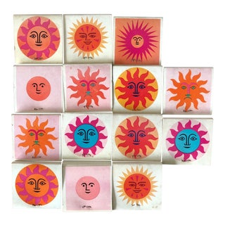 1960s Alexander Girard La Fonda Del Sol Matchbook Cover Collection- Set of 15