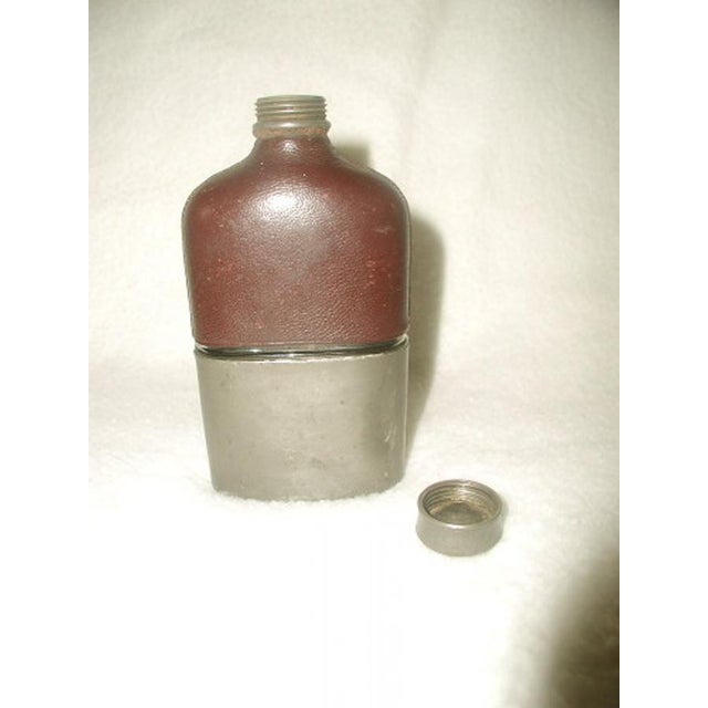 Mid 19th Century 19th Century English Leather Flask For Sale - Image 5 of 5