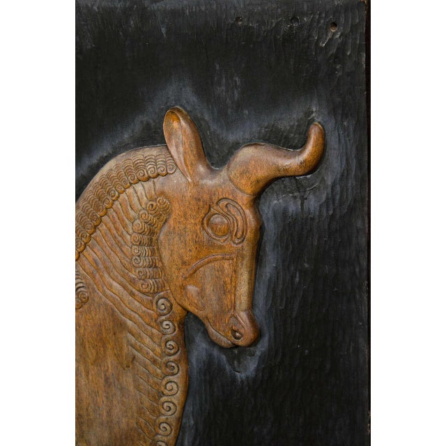 Exceptional Hand Carved Artwork Panel From the Estate of Charles Lamb For Sale In New York - Image 6 of 11