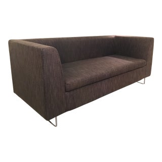 "Blu Dot Transitional Bonnie Charcoal Upholstered 72"" Sofa For Sale"