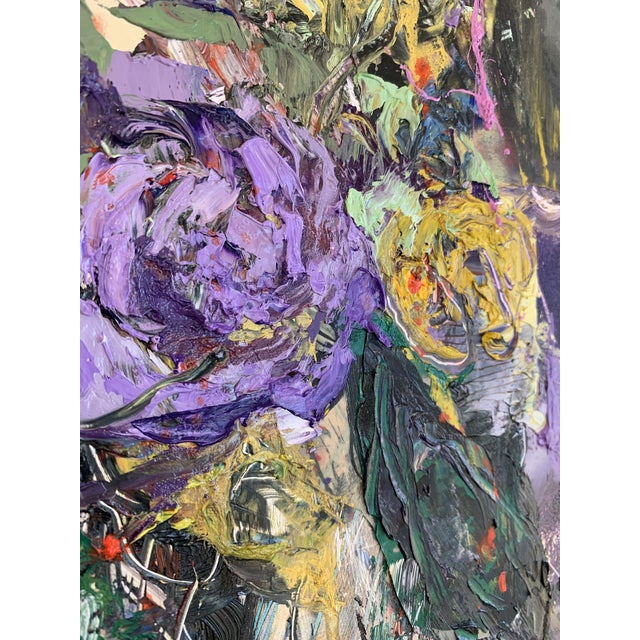 """2020s """"Purple Perfection"""" a Modern Floral by Jj Justice For Sale - Image 5 of 10"""