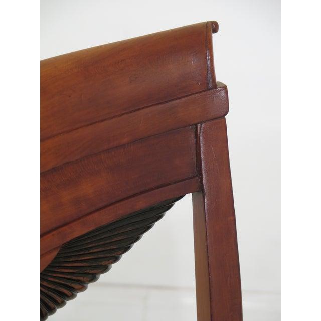 1940s Vintage Biedermeier Style Cherry Side Chair For Sale In Philadelphia - Image 6 of 10