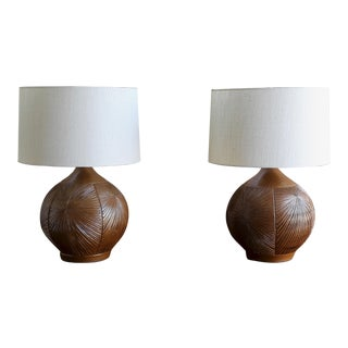 David Cressey & Robert Maxwell Earthgender Lamps - a Pair For Sale