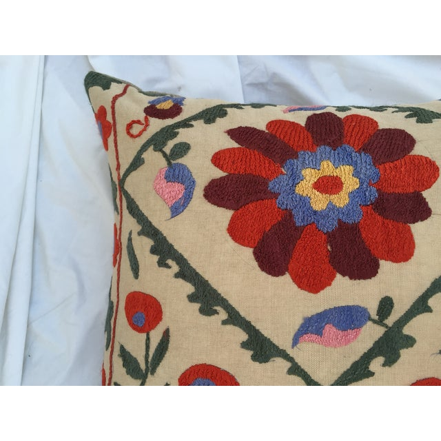Antique Embroidered Suzani Pillow - Image 6 of 7