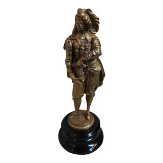 Antique Spelter Figure of a Gentleman For Sale