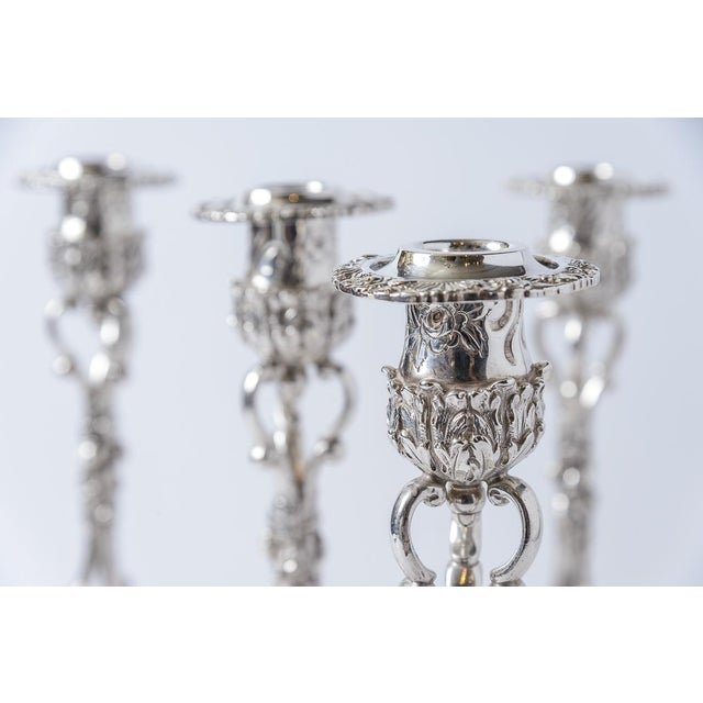 Early 21st Century Sterling Silver Candlesticks/Kirk and Son-Setof 4 For Sale - Image 5 of 8