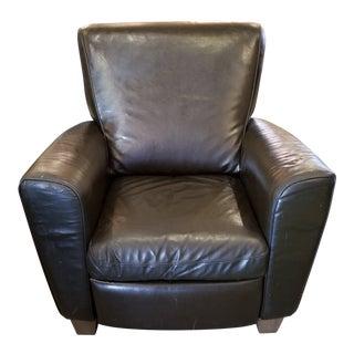 Modern Natuzzi Dark Brown Leather Recliner