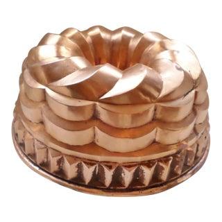 Mid-Century Copper Pudding / Jello / Chocolate Mold For Sale