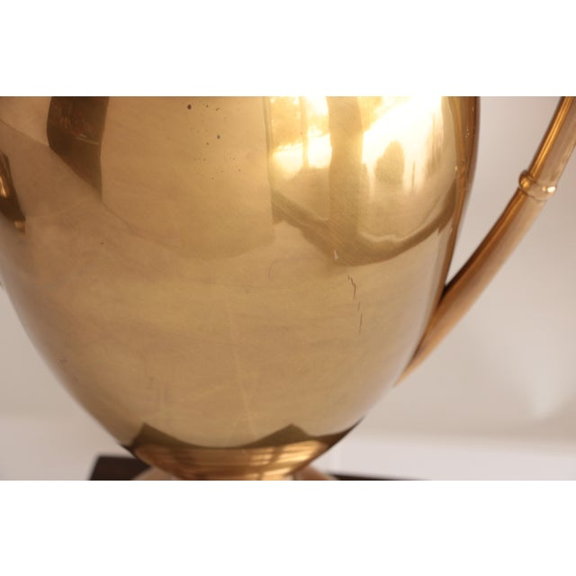 Late 20th Century Frederick Cooper Brass Trophy Lamps, a Pair For Sale - Image 5 of 8